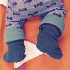 Botas para bebés sin suela | Booties de Polar y lana de merino