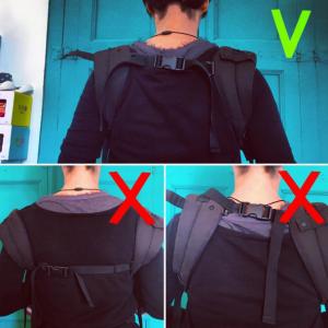 ajuste mochila ergonomica