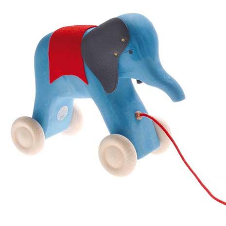 Img Galeria Elefante de madera con cuerda