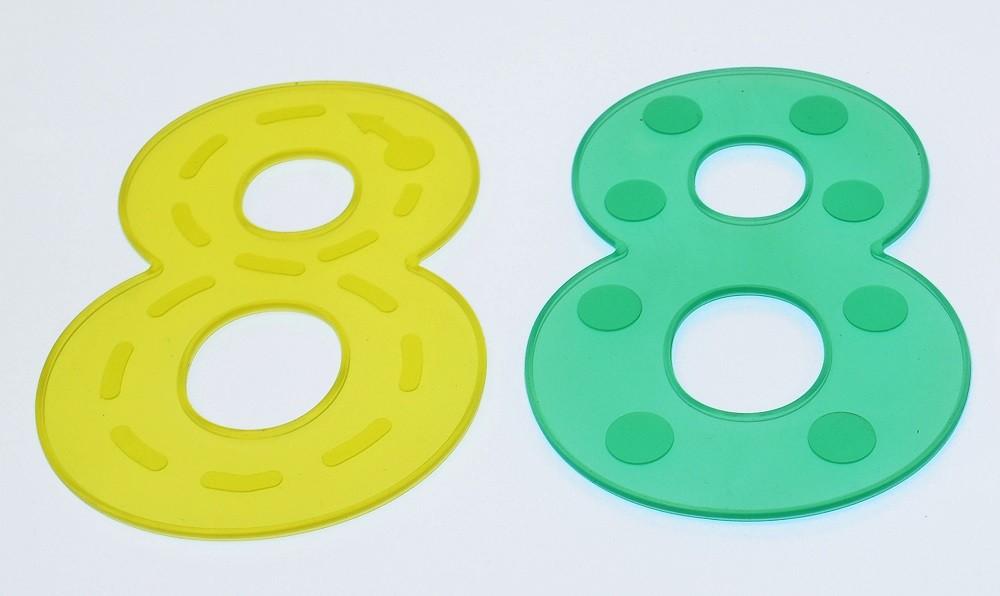 Imagen de Números de silicona translúcidos