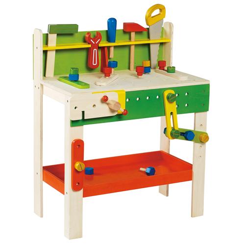 Imagen de Banco de trabajo con herramientas y piezas