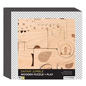Imagen de Puzzle de madera Animales Petit Collage