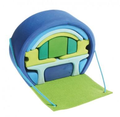 Imagen de Casa compacta Grimm's - Azul