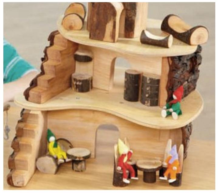 Casa mu ecas madera juguetes madera barcelona a pali - Casitas pequenas de madera ...