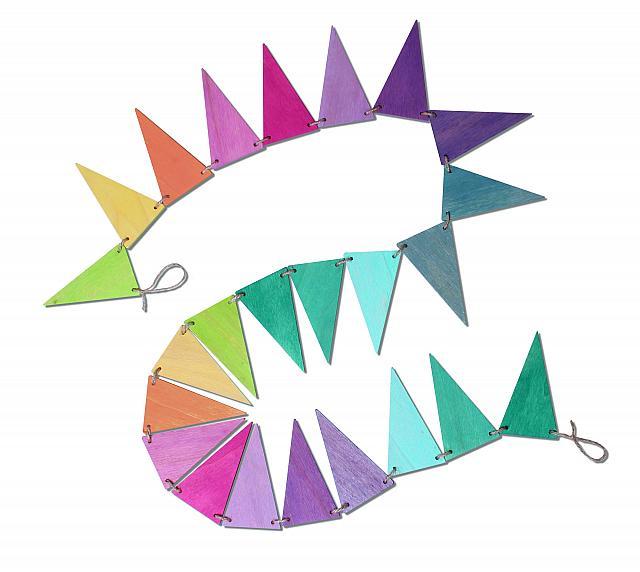 Imagen de Banderines de madera color pastel Grimm's