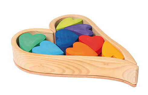 Imagen de Set construcción de corazones rainbow Grimm's
