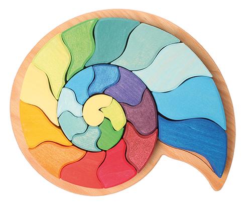 Imagen de Puzzle Amonita Caracol de Grimm's