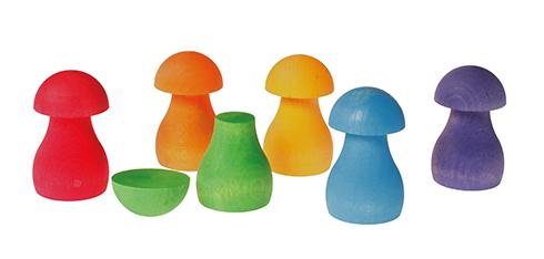 Imagen de Juego de clasificación Rainbow Mushrooms Grimm's