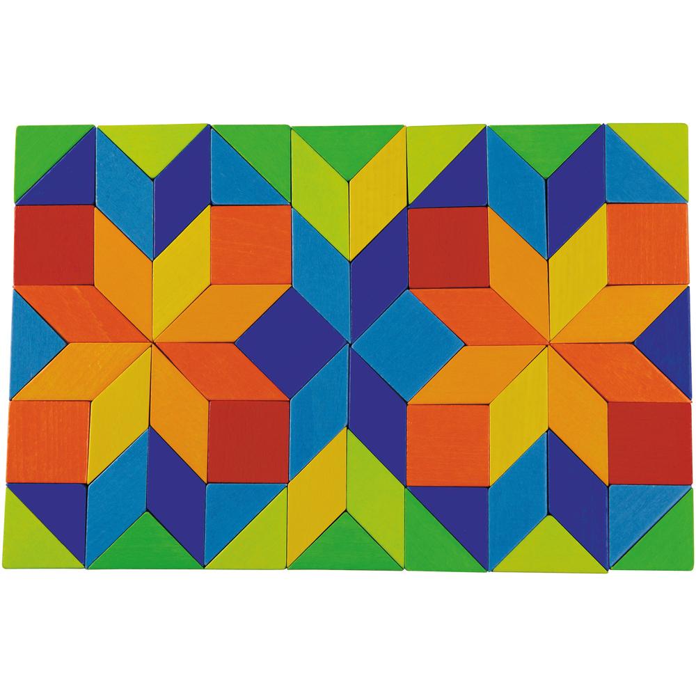 Imagen de Juego de composición mosaico de colores
