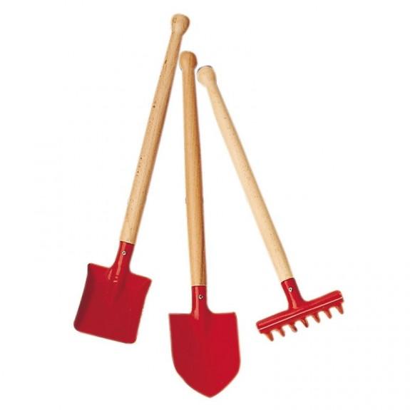 Imagen de Conjunto herramientas de jardín rojo