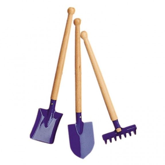 Imagen de Conjunto herramientas de jardín azul