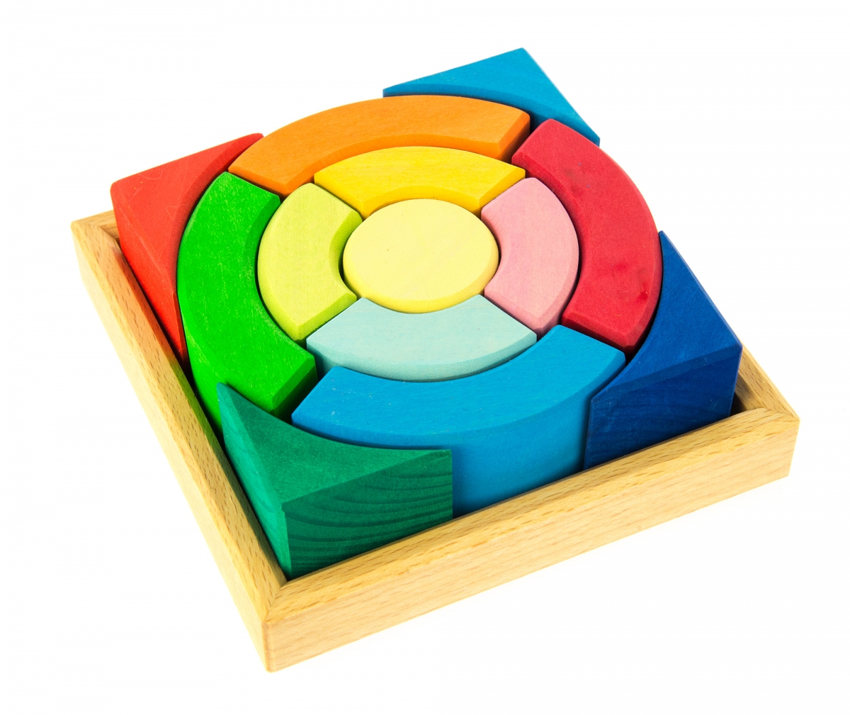 Imagen de Puzzle círculos cuadrados