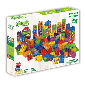 Imagen de Bloques de construcción con tres placas base 100 piezas