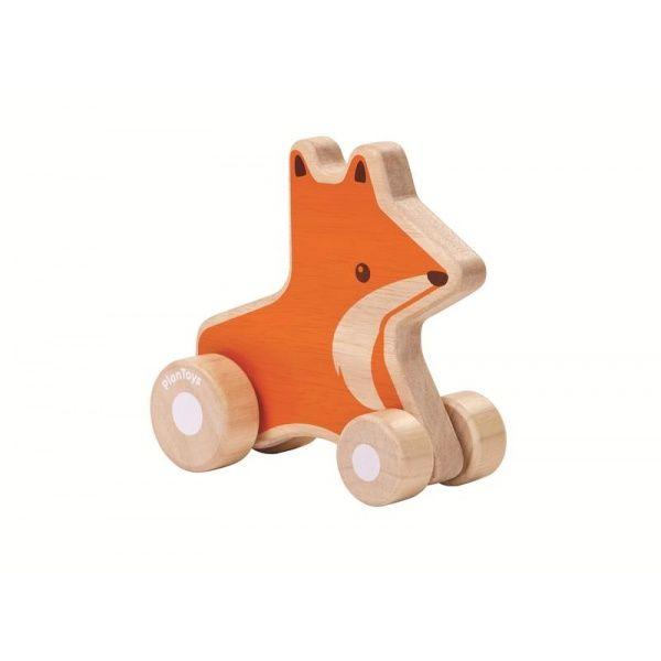 Imagen de Zorro de madera con ruedas