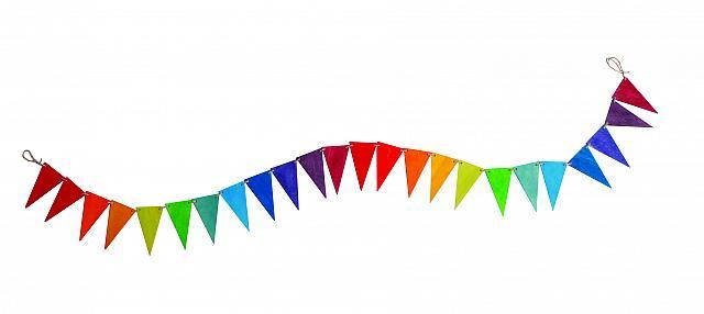 Imagen de Banderines de madera rainbow de Grimm's