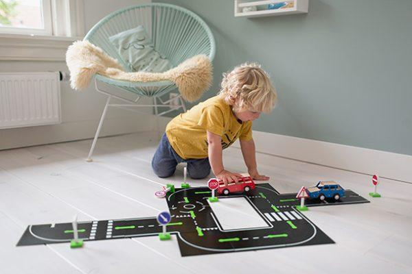 Imagen de Puzzle carreteras con coches