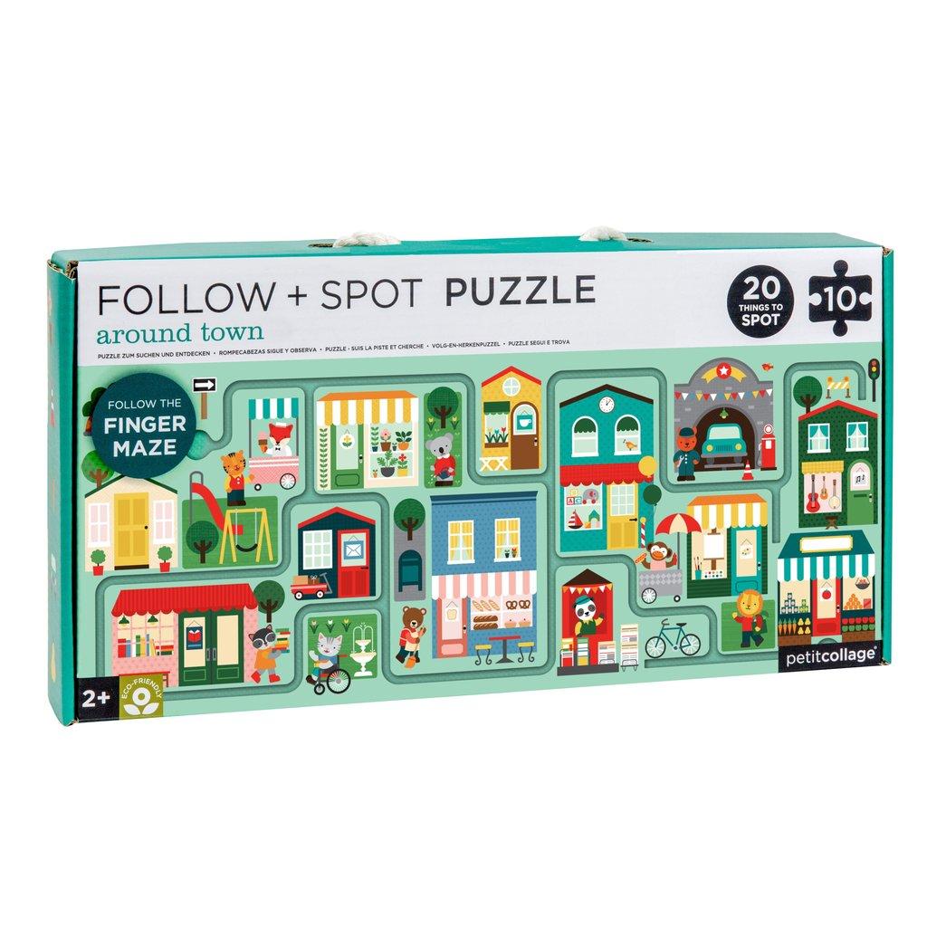 Imagen de Puzzle Alrededor de la ciudad (sigue y observa) Petit Collage