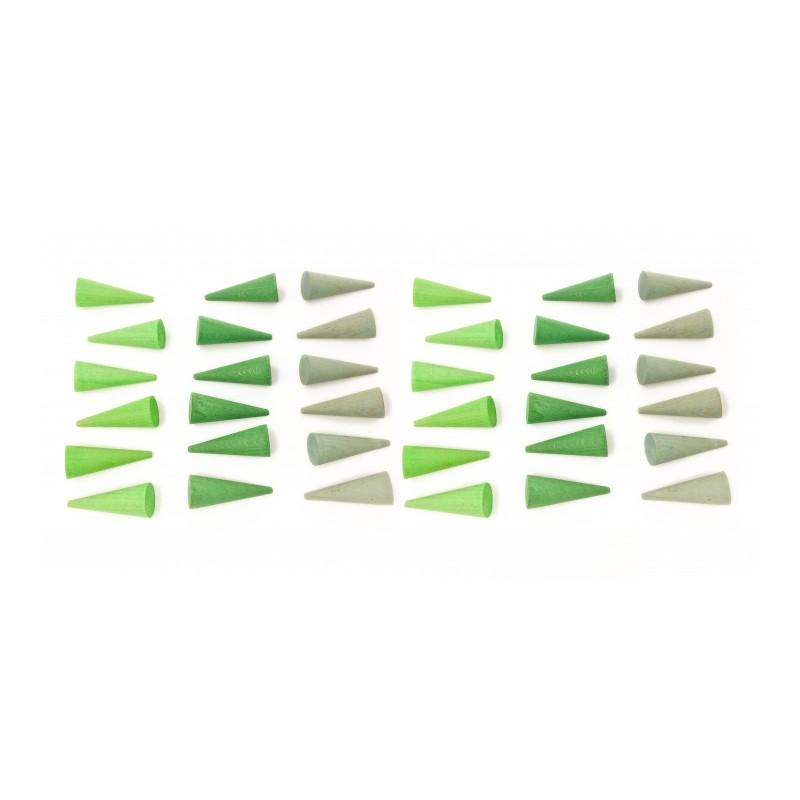Imagen de Mandala Cono Verde (36 piezas) Grapat