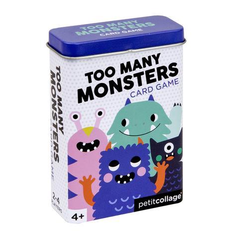 """Imagen de Juego de cartas en lata """"Demasiados Monstruos"""" Petit Collage"""