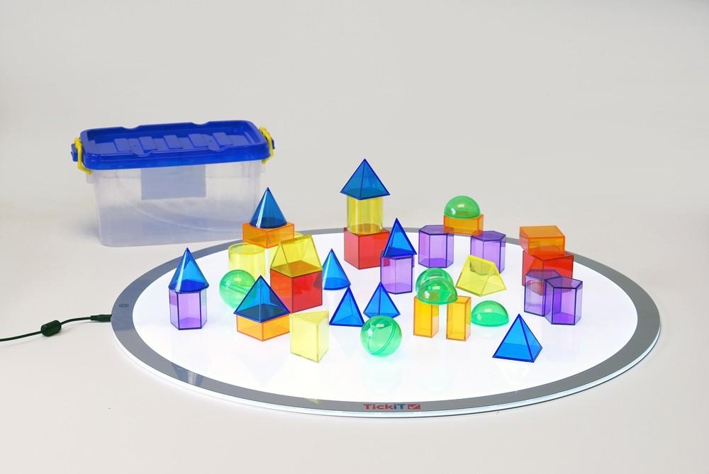 Imagen de Formas geométricas translucidas (36 piezas)