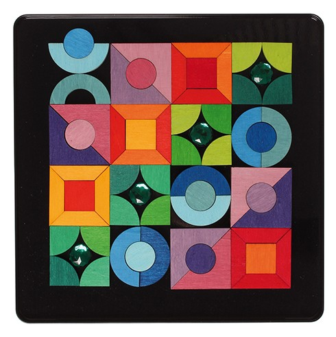 Imagen de Puzzle magnético triángulo, cuadrado de Grimm´s