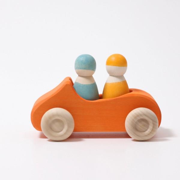 Imagen de Coche grande naranja con 2 pasajeros Grimm´s