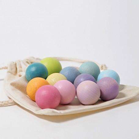 Imagen de 12 bolas pastel