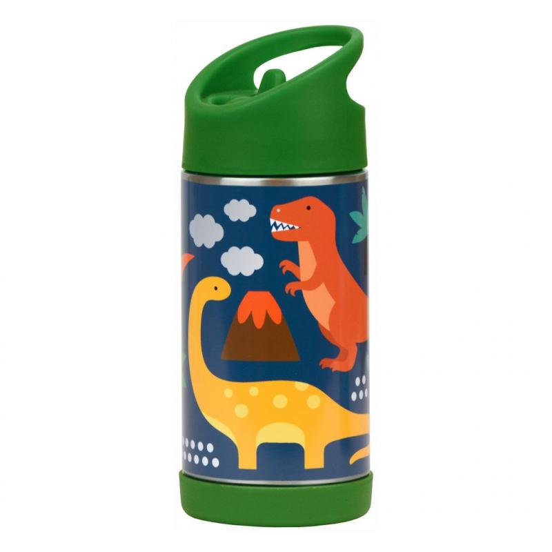 """Imagen de Botella Termo """"Dinosaurios"""" de acero inoxidable"""