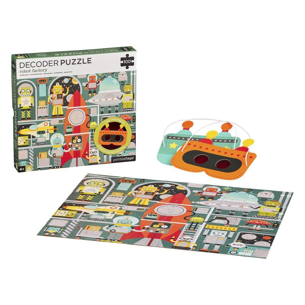 Imagen de Puzzle 100 Piezas Con Descodificador Robots Petit Collage