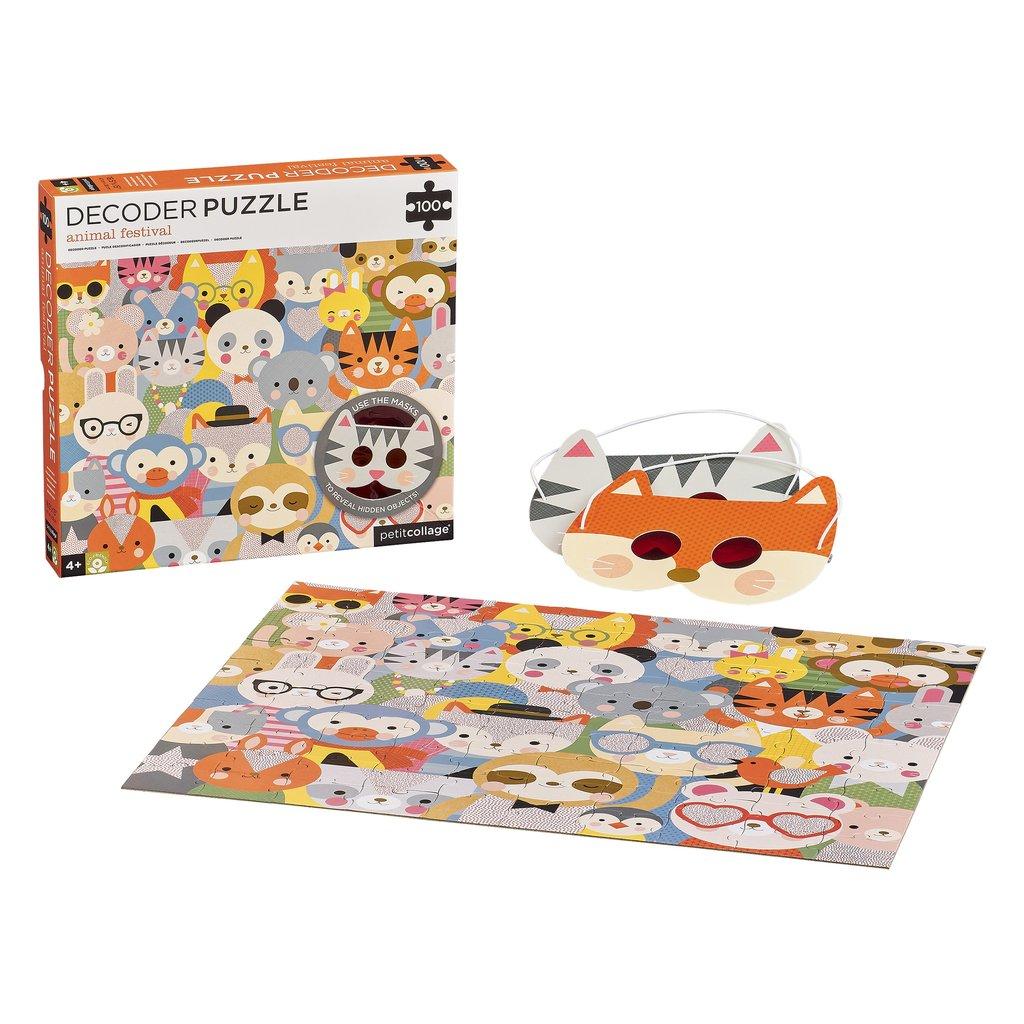 Imagen de Puzzle 100 Piezas Con Descodificador Animales Petit Collage