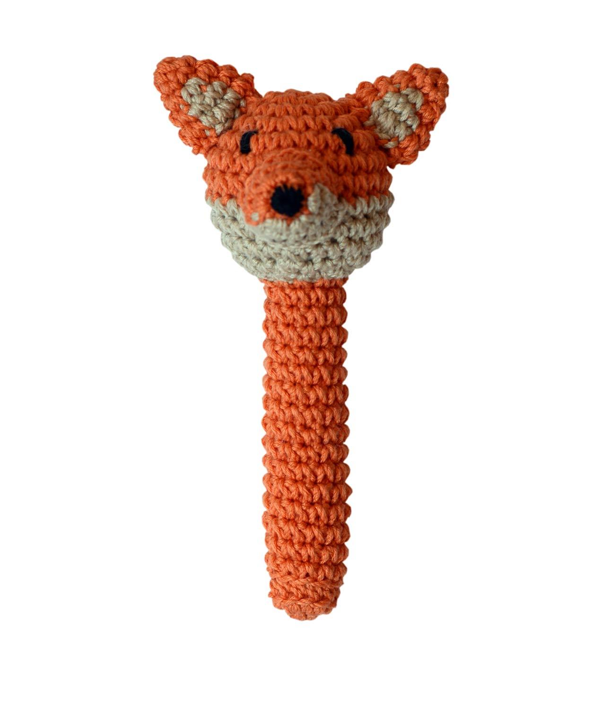 Imagen de Sonajero de Crochet Zorro