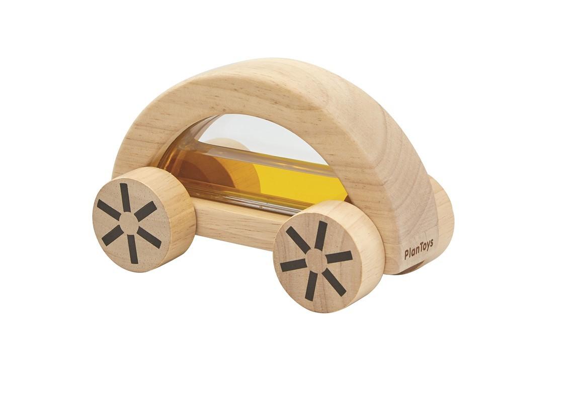 Imagen de Coche de madera con agua Amarillo