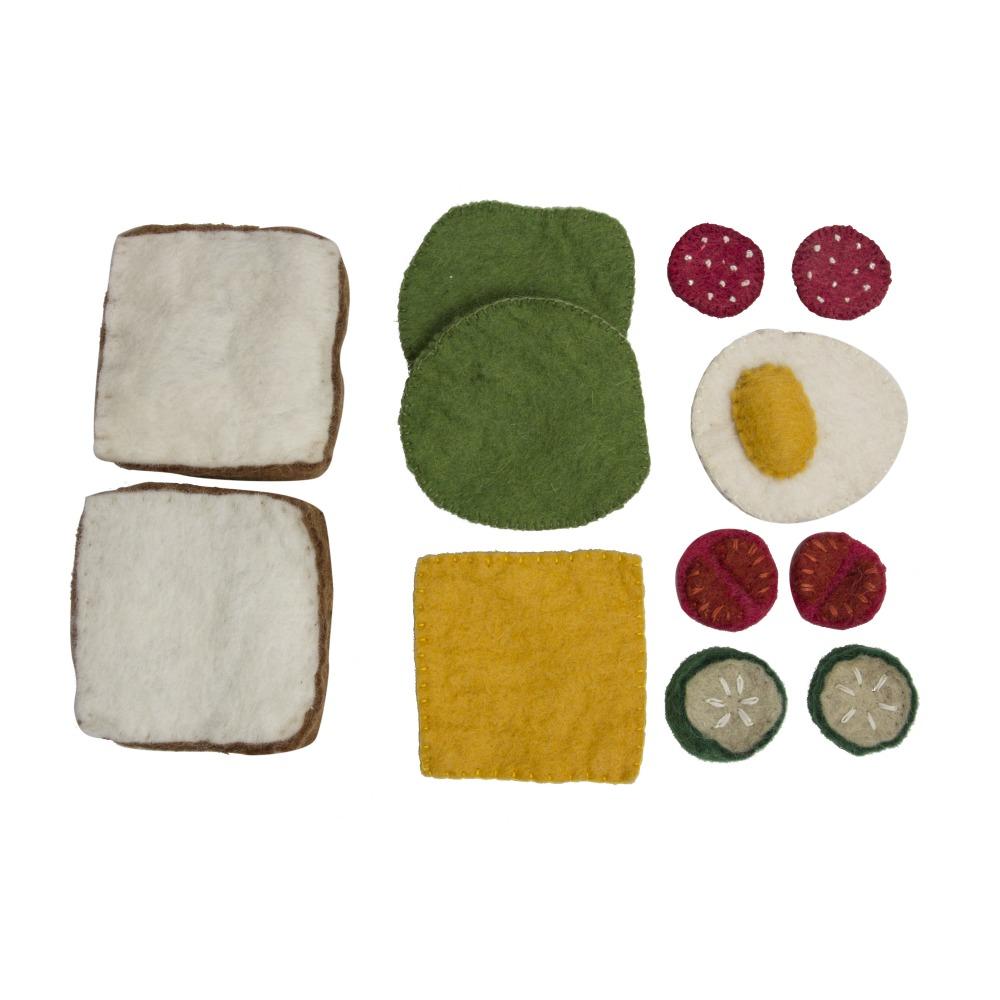 Img Galeria Set de Sandwich de fieltro de lana Papoose