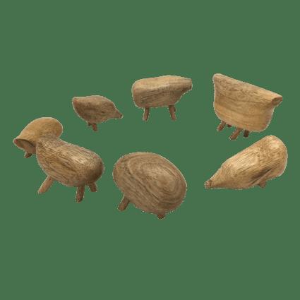 Imagen de Animales de madera - 7 piezas Papoose