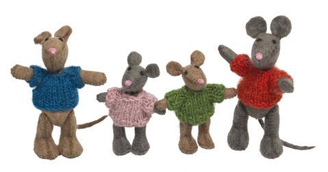 Imagen de Família de ratones de fieltro Papoose