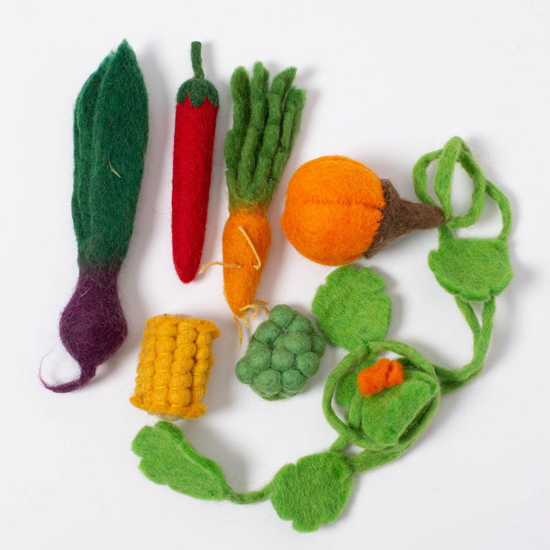 Imagen de Set de mini vegetales de fieltro Papoose