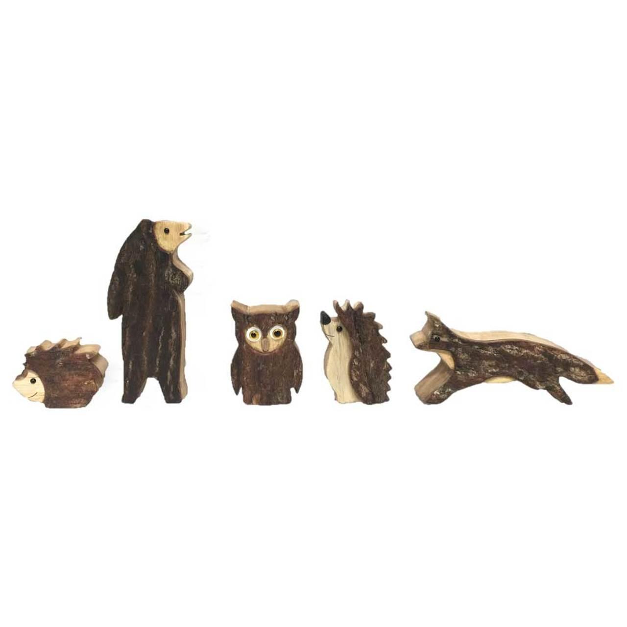 Img Galeria Set de animales de madera Papoose